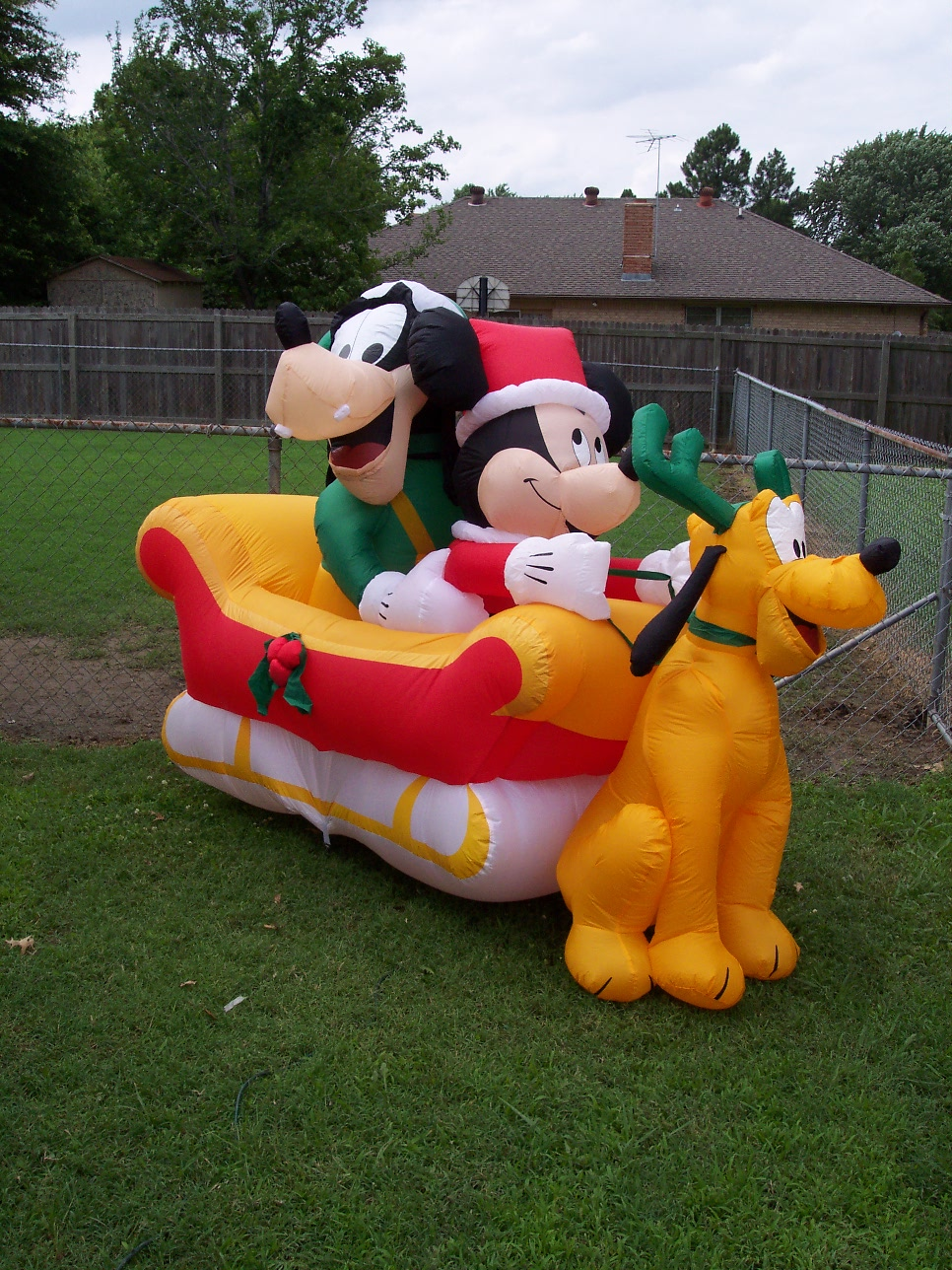 my disney christmas inflatables back to my christmas collection